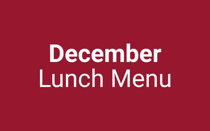 December Lunch Menu - Ascension Catholic School